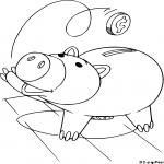 Coloriage Cochon Toy Story