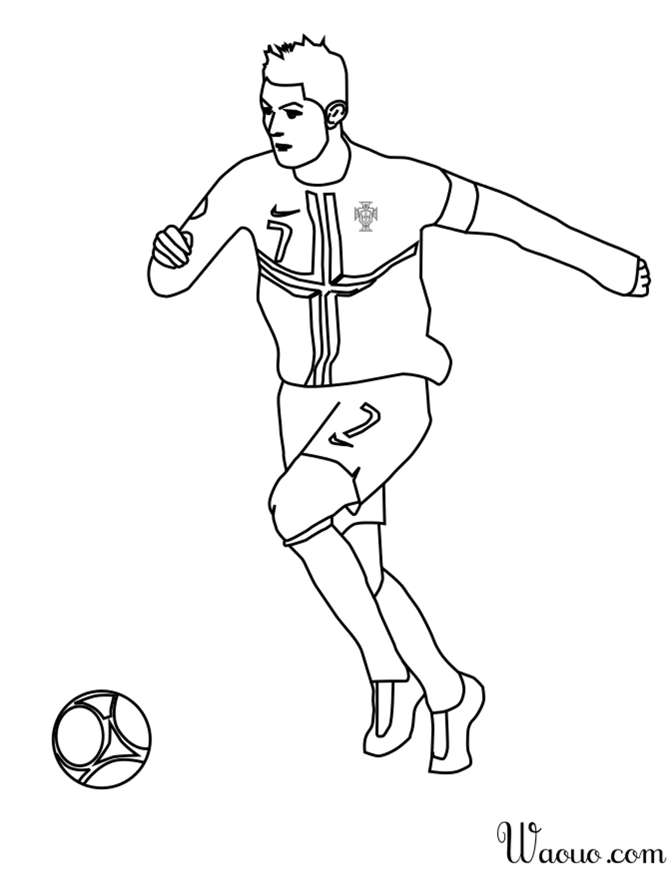 Coloriage ronaldo my blog - Dessin du portugal ...