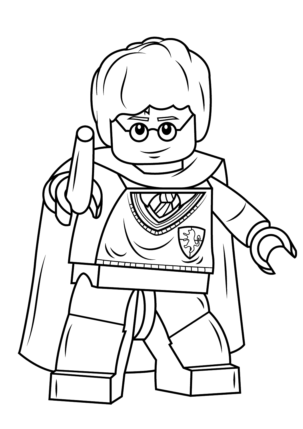 Coloriage lego harry potter imprimer sur coloriages info - Dessin lego a colorier ...