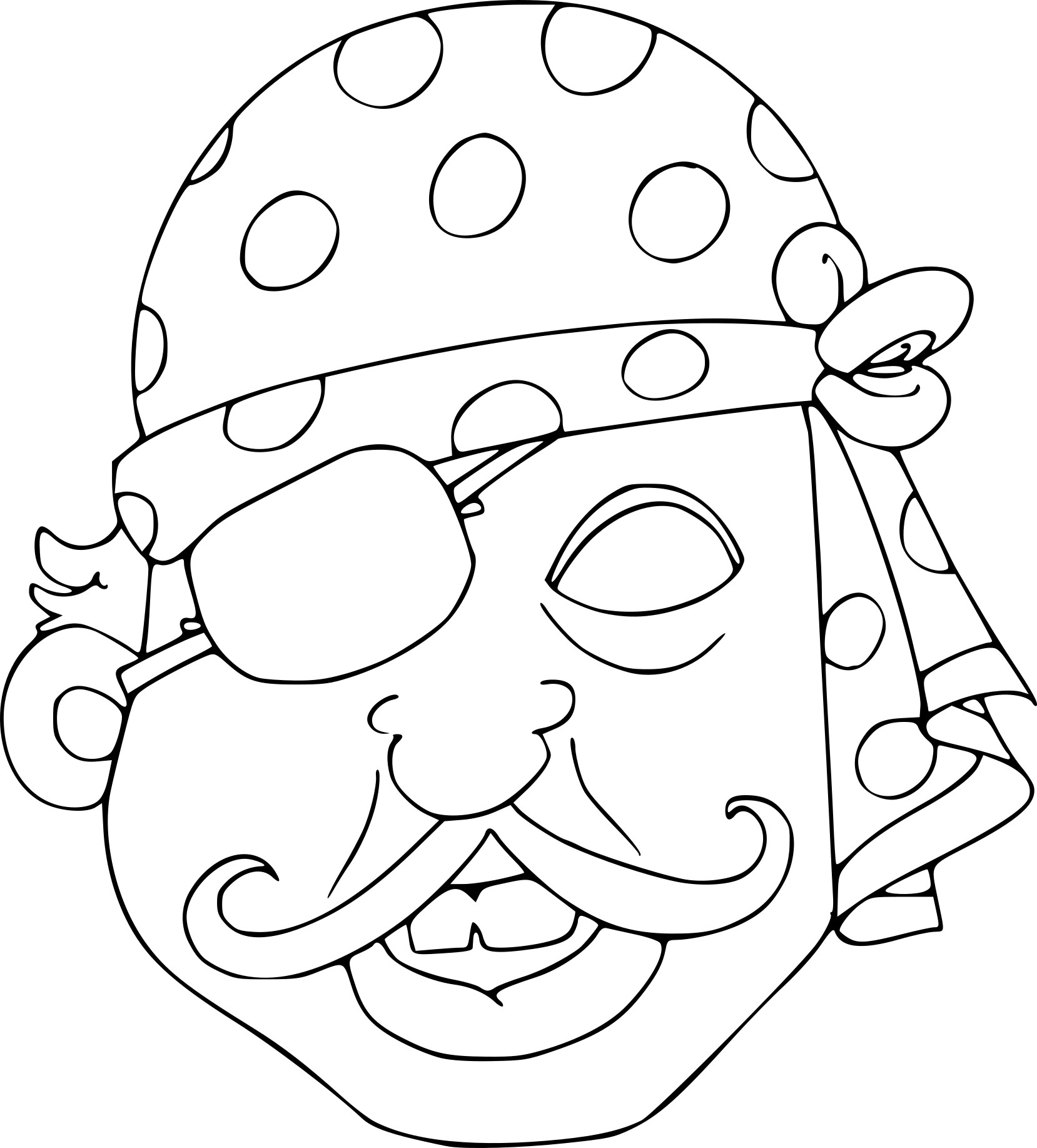 Coloriage masque pirate imprimer sur coloriages info - Masque de princesse a colorier ...