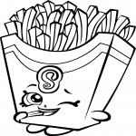 Coloriage Frites Shopkins