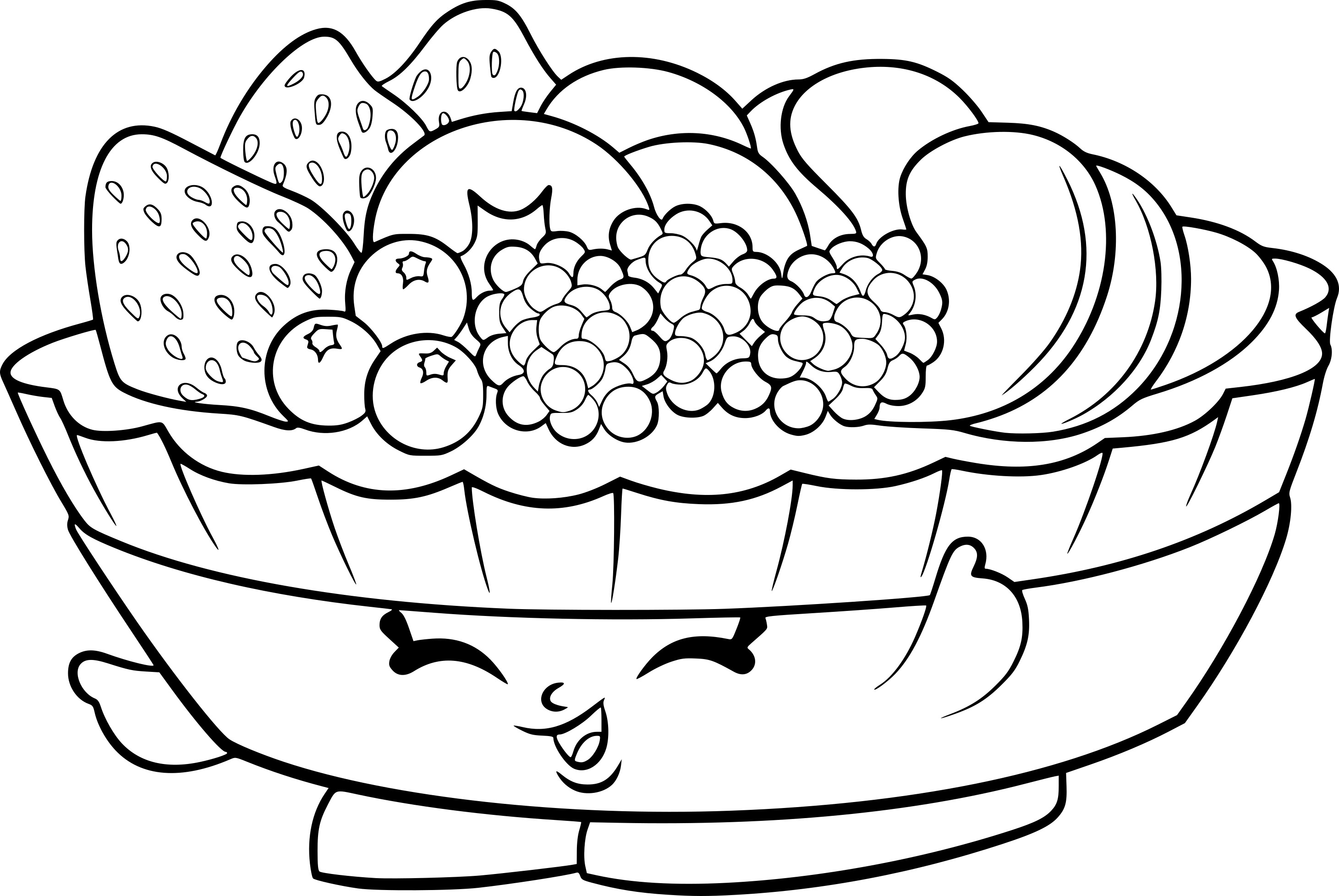 Coloriage fruits shopkins imprimer sur coloriages info - Fruits a colorier et a imprimer ...
