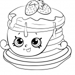 Coloriage Pancake Shopkins