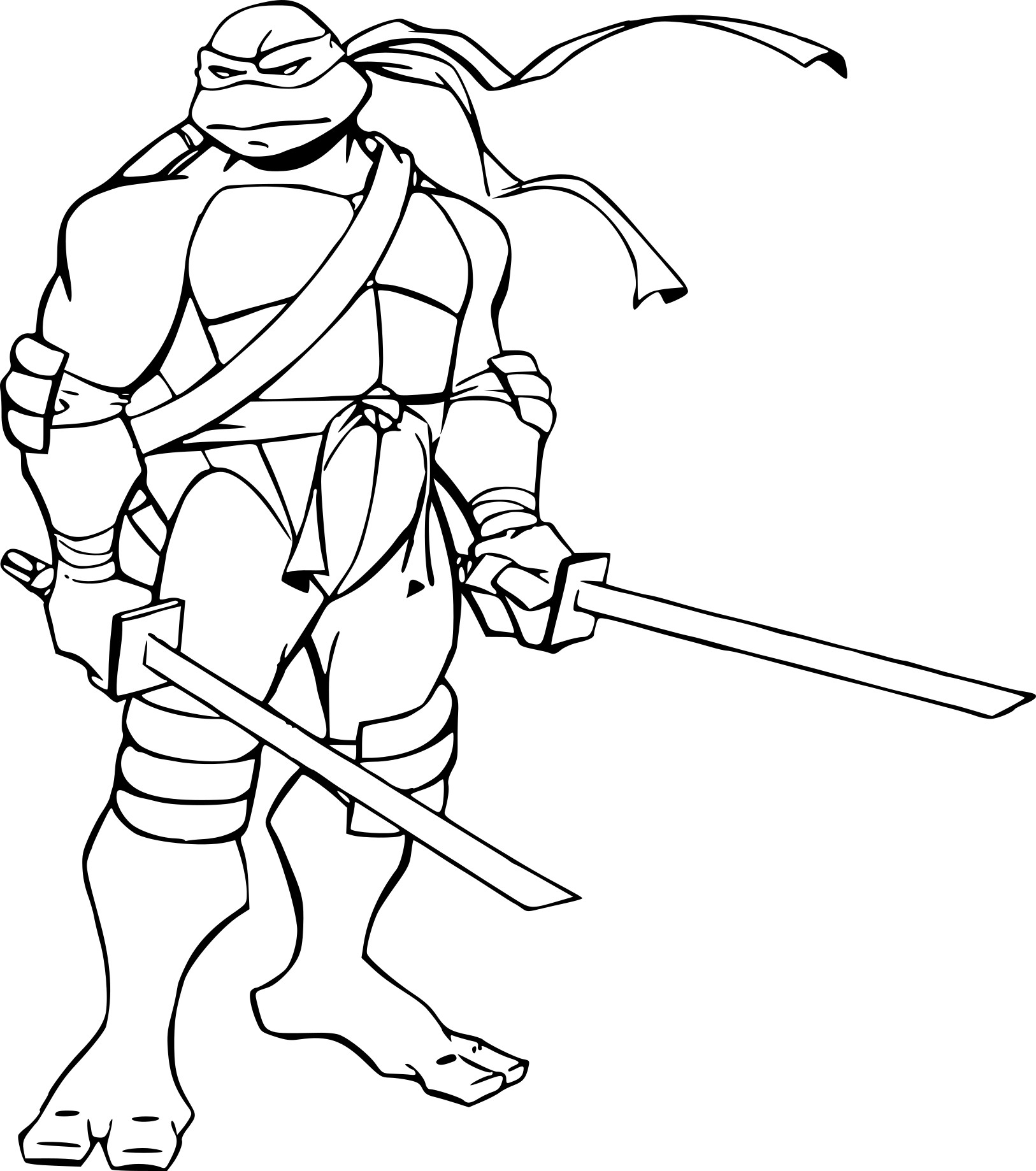 Coloriages de tortues mangas - Masque tortue ninja imprimer ...