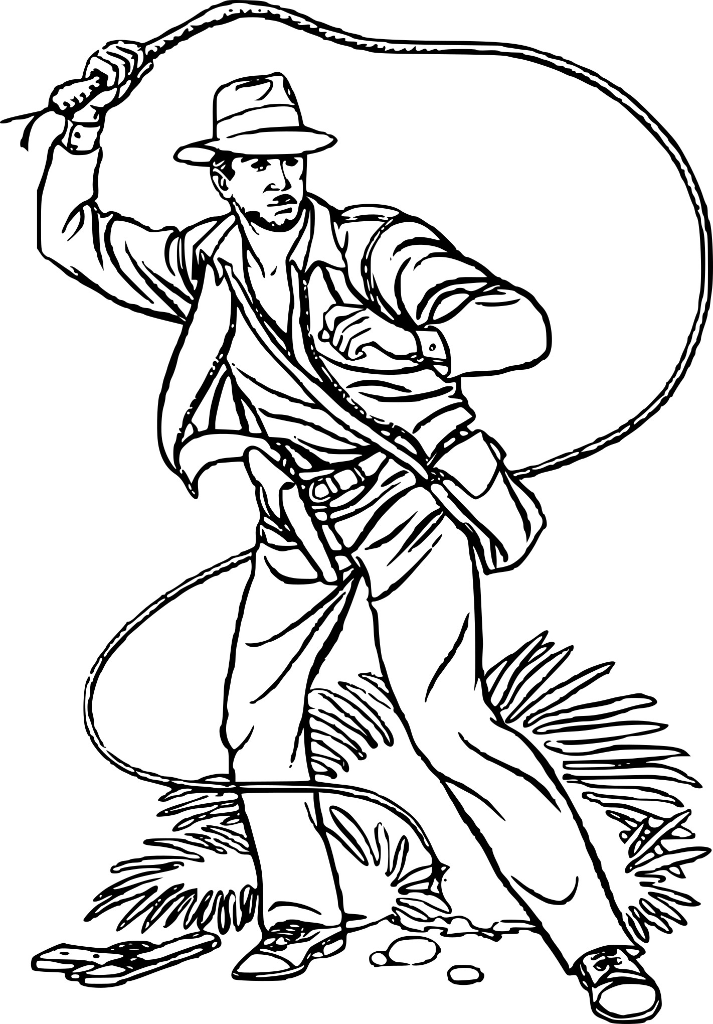 Coloriage personnage indiana jones imprimer sur - Coloriage indiana jones ...