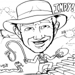 Coloriage personnage imprimer - Coloriage indiana jones ...