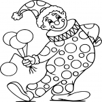 Coloriage Clown cirque dessin