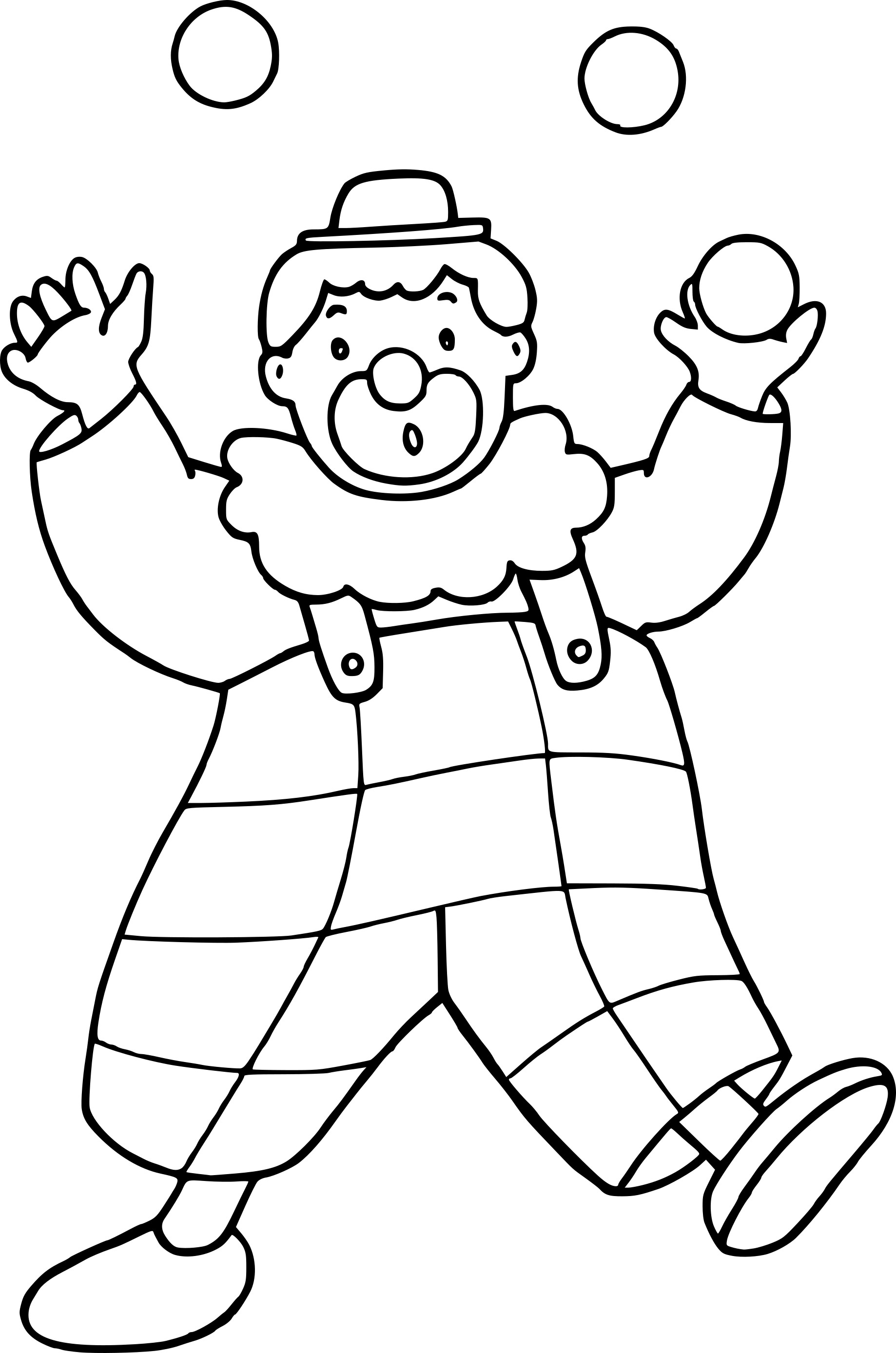 Coloriage Clown Ballon Dessin A Imprimer Sur Coloriages Info