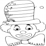 Clown chapeau dessin