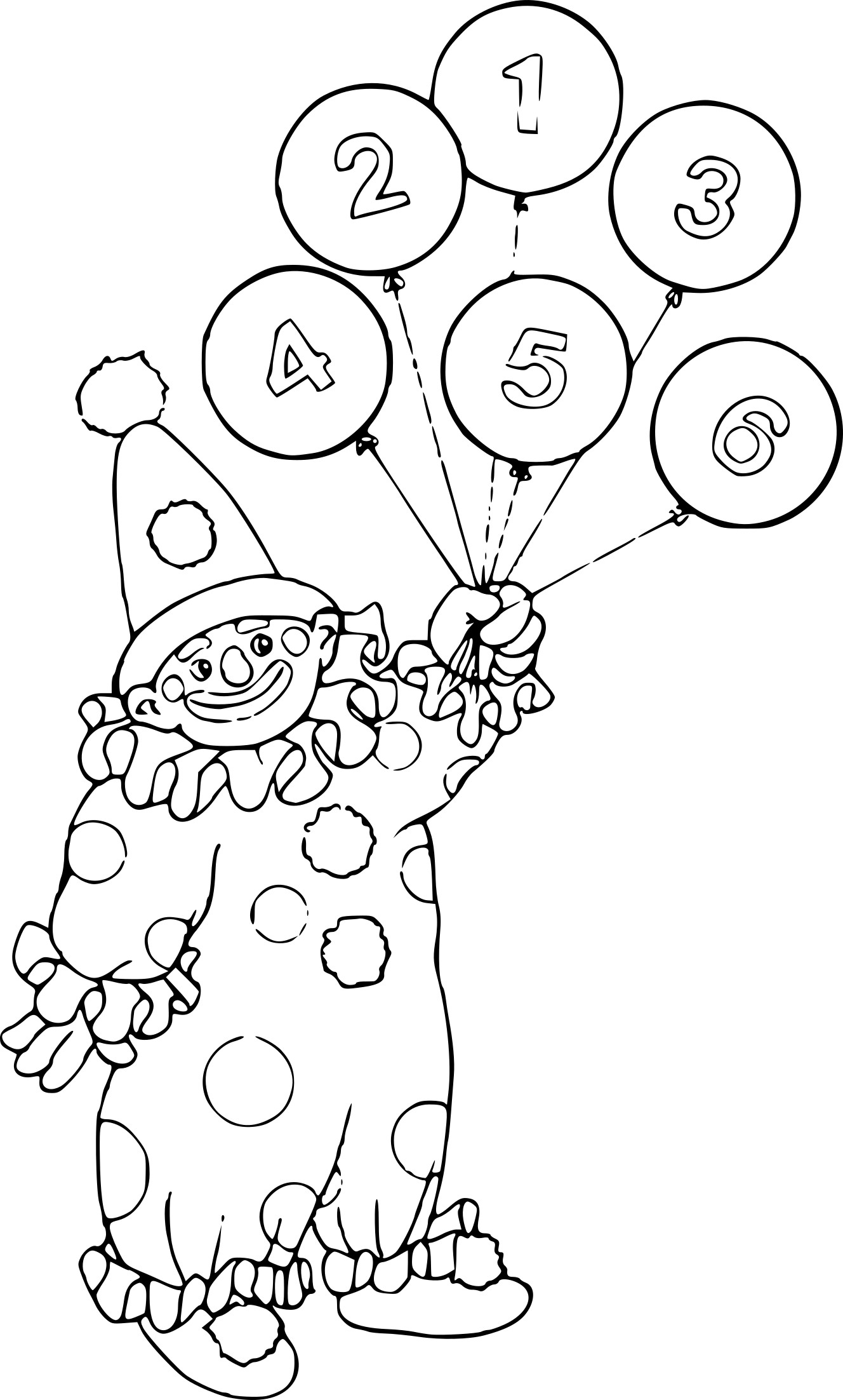 Coloriage Clown Ballon A Imprimer Sur Coloriages Info