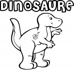 Coloriage Dinosaure maternelle