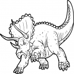 Dinosaure Triceratops