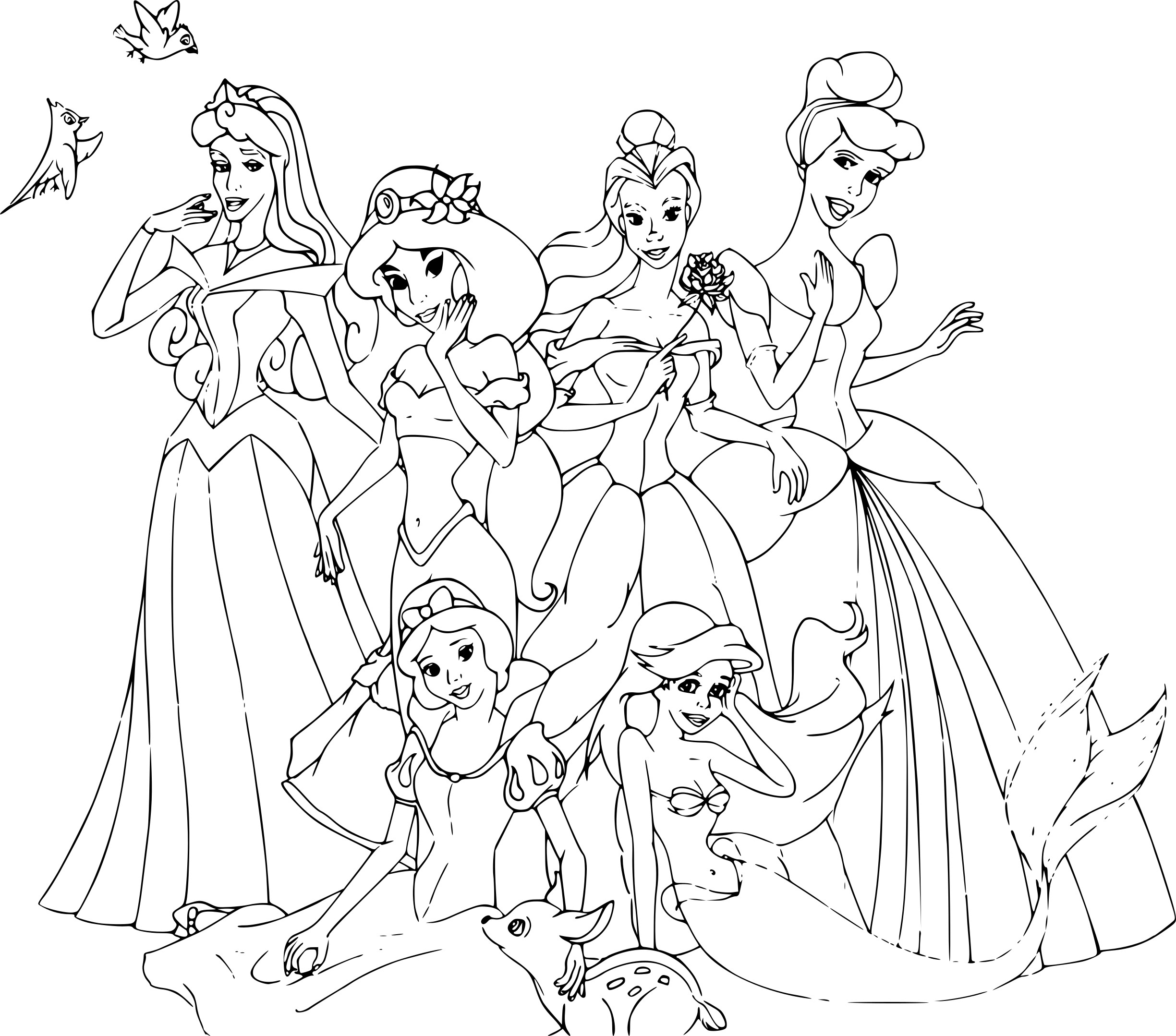 coloriage disney princesse - Dessin A Colorier Disney