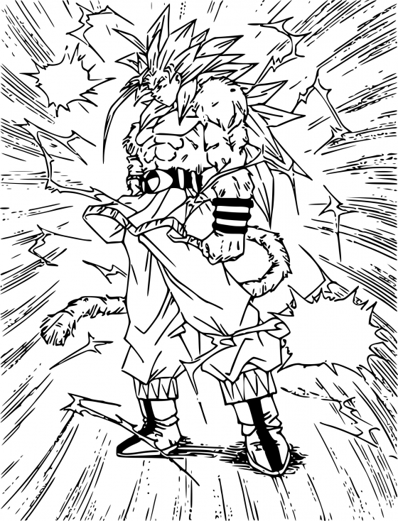 Coloriage Dragon Ball GT à imprimer