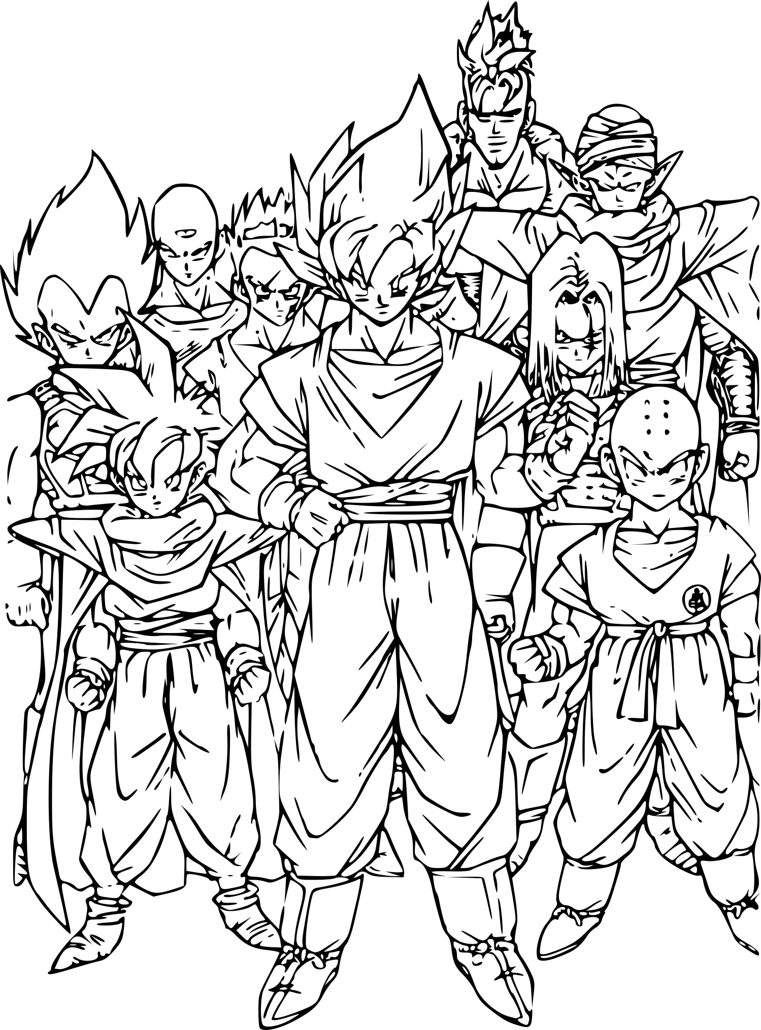Dessin personnage manga dragon ball z dessin de manga - Coloriage personnage ...