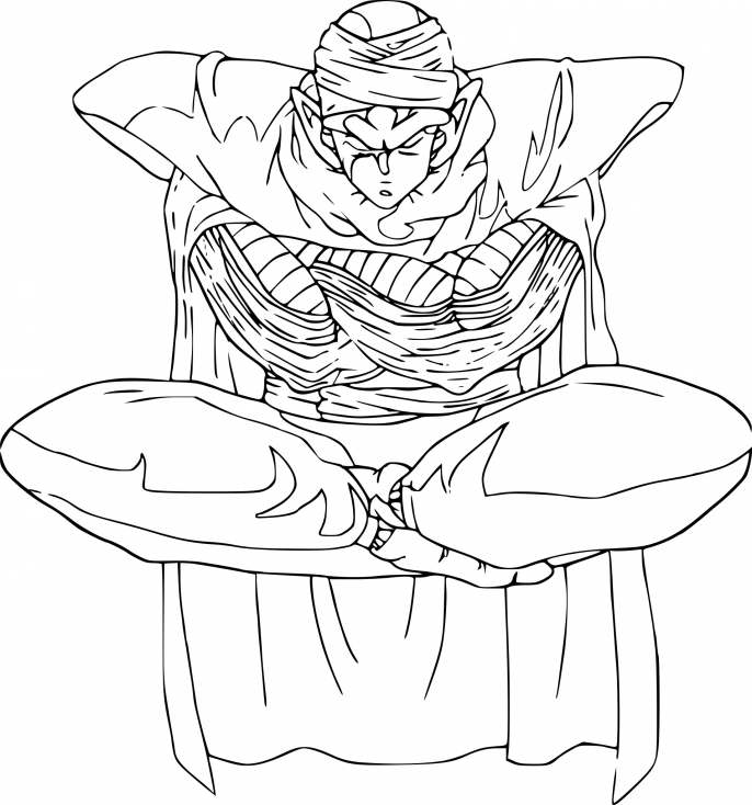 Coloriage piccolo dragon ball z imprimer sur coloriages - Coloriage gratuit dragon ball z ...