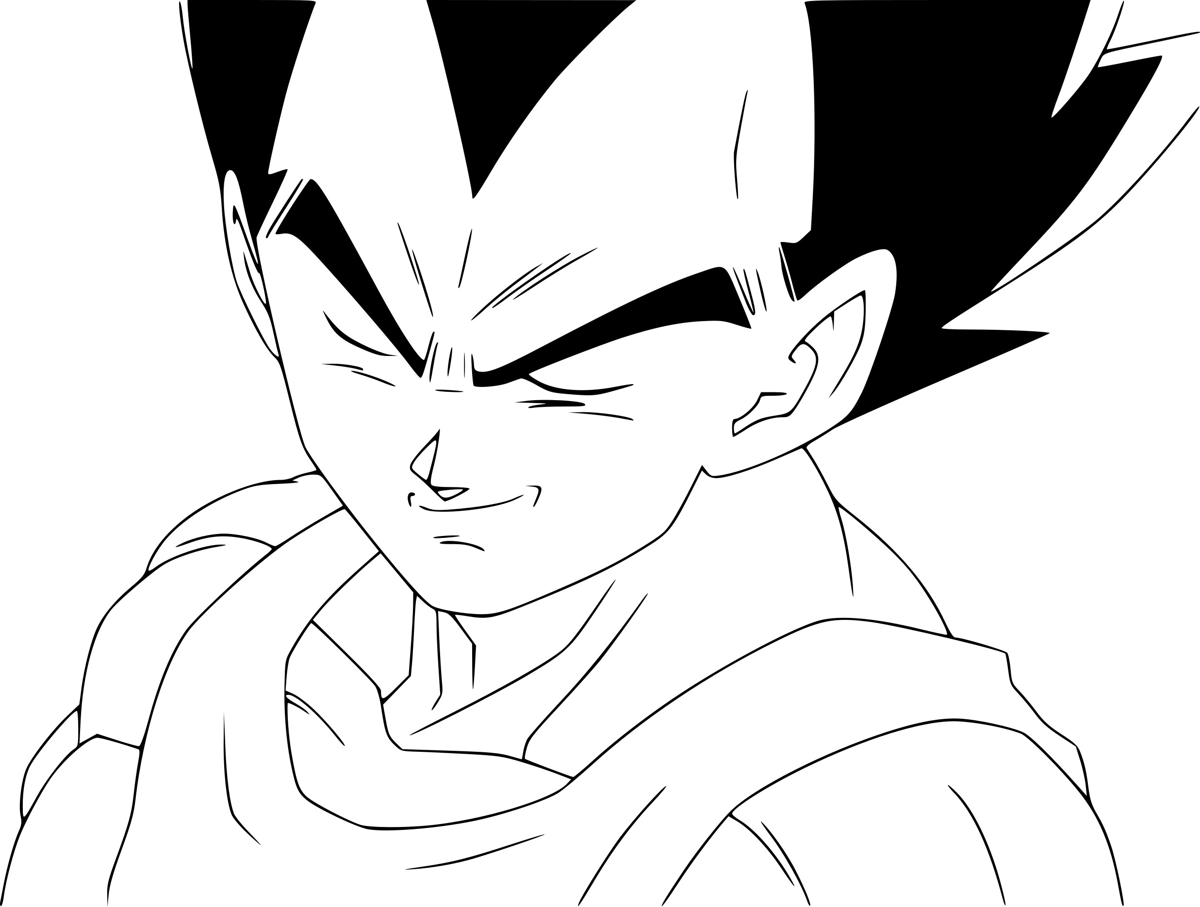 Coloriage vegeta dragon ball z imprimer sur coloriages info - Dessin de vegeta ...