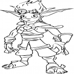 Coloriage Jak de Jak and Daxter