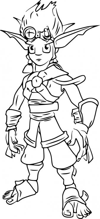 Coloriage Jak de Jak and Daxter à imprimer