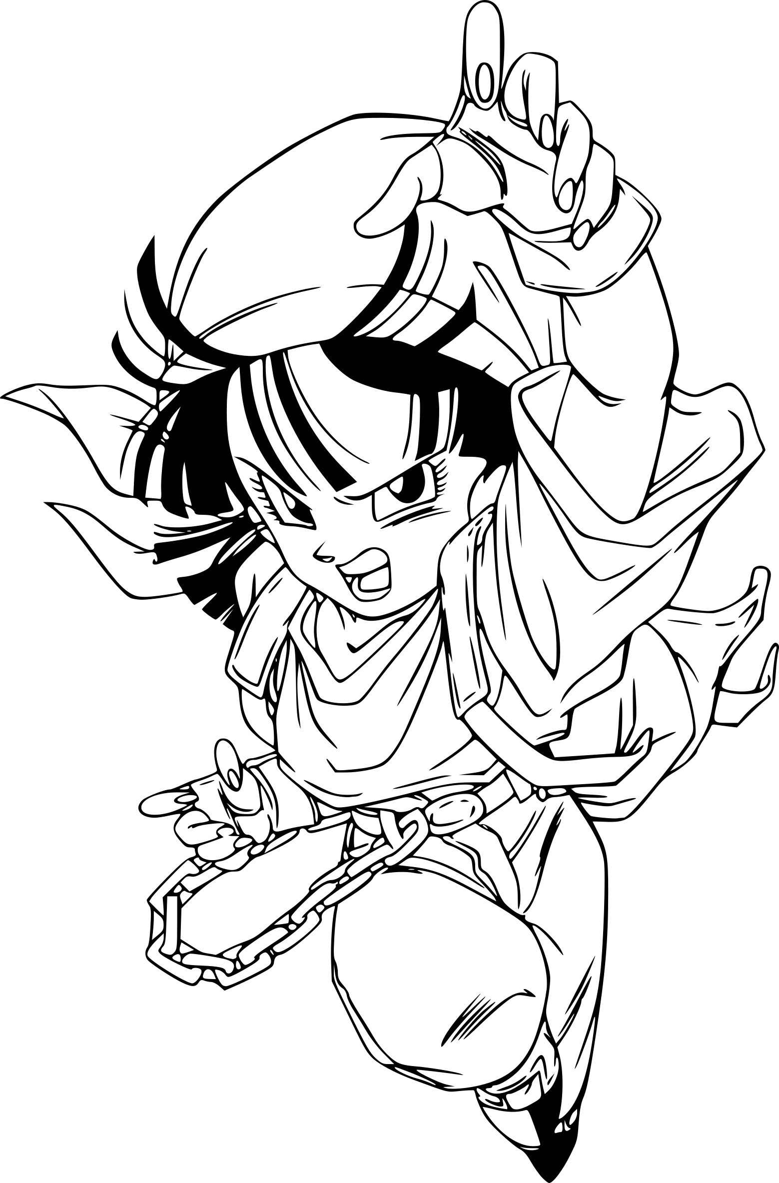 Printable coloring pages of dragonball gt ~ Coloriage Pan | My blog