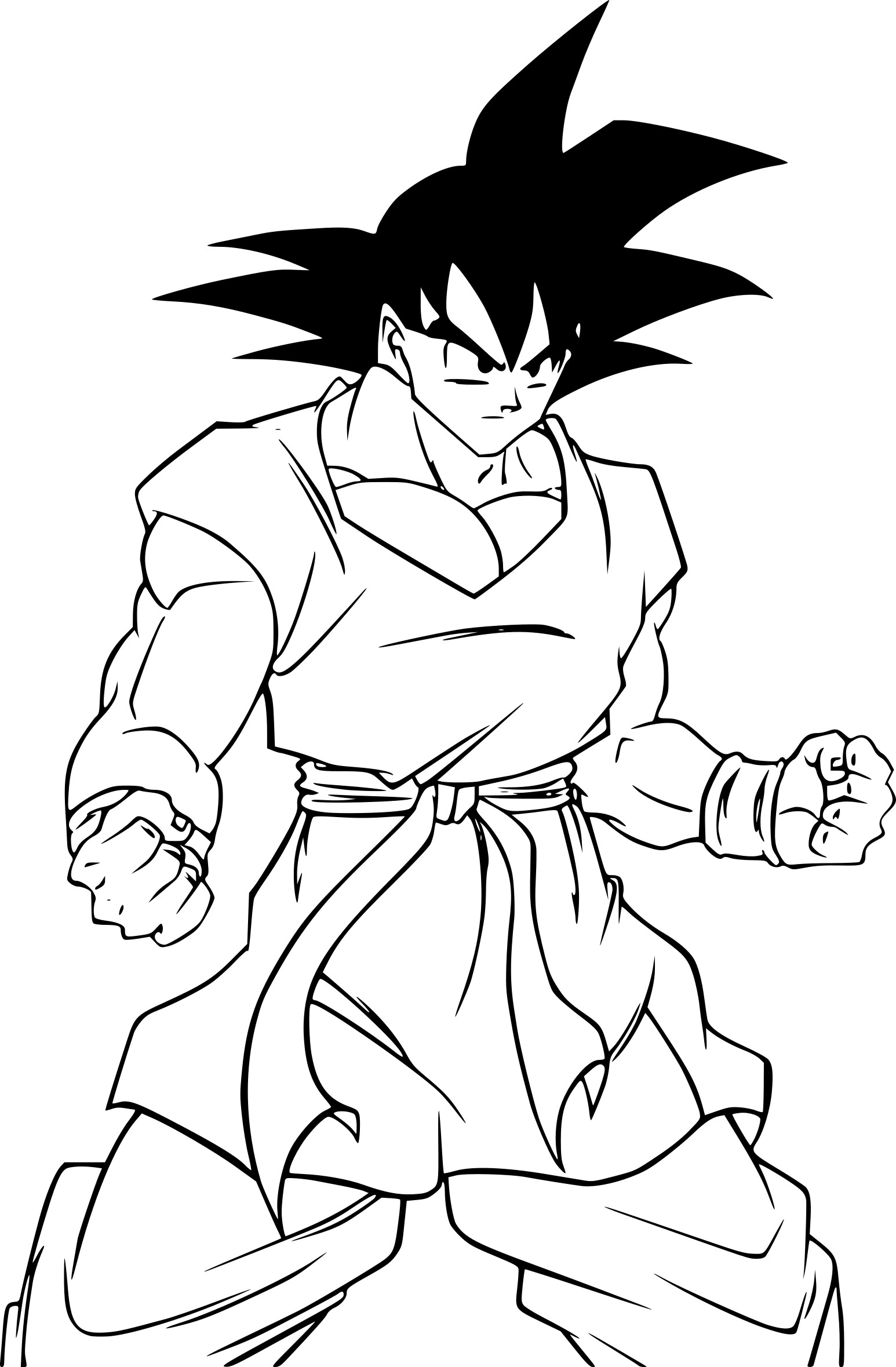 Coloriage son goku dragon ball z imprimer sur coloriages info - Dessin sangoku ...