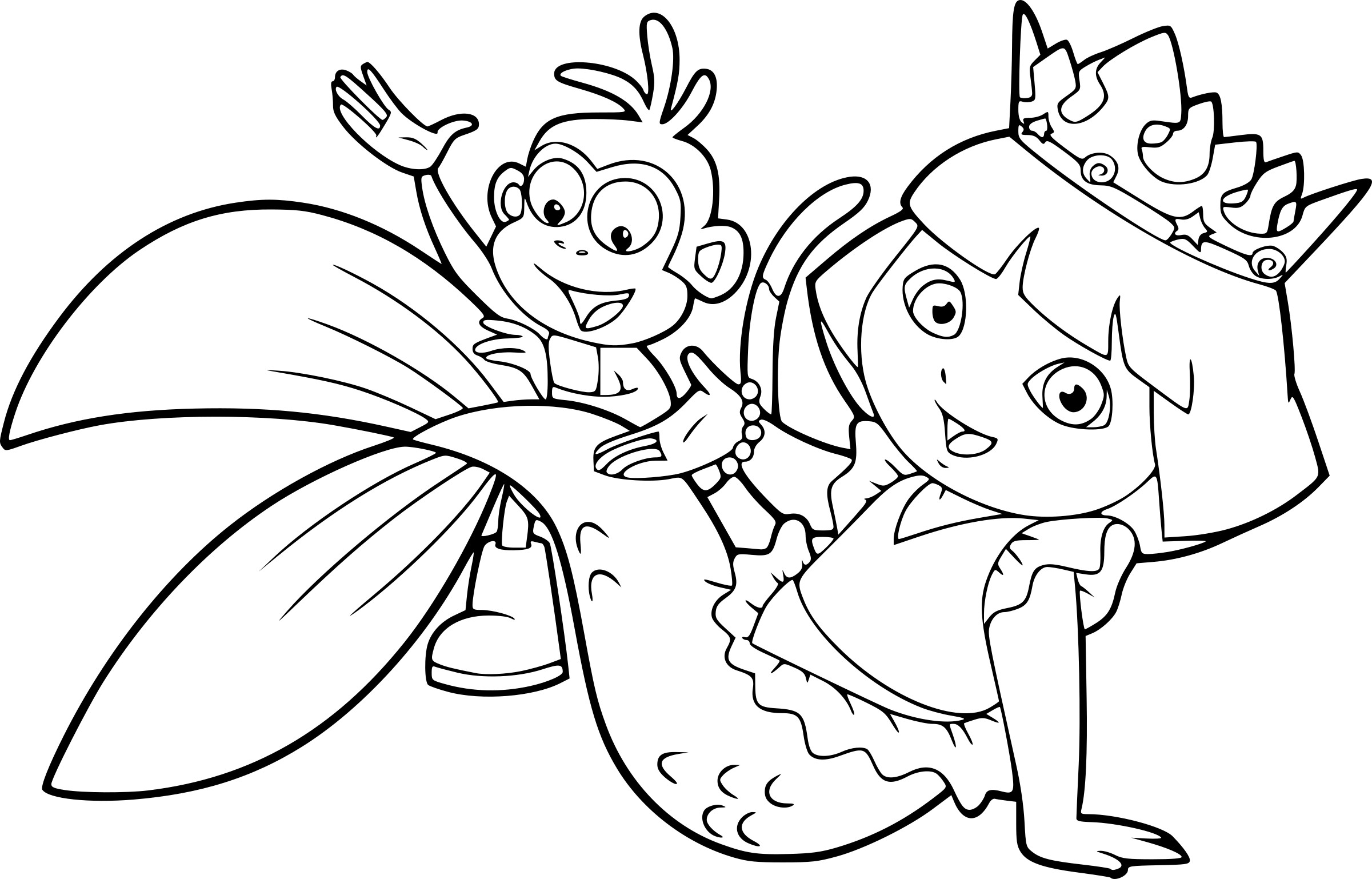 Dora Sirene on animal coloring pages