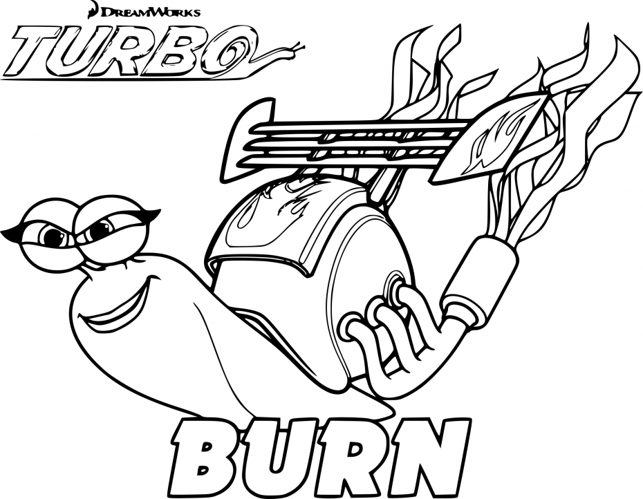 Coloriage Turbo Burn à imprimer