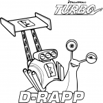 Coloriage Turbo D-Rapp
