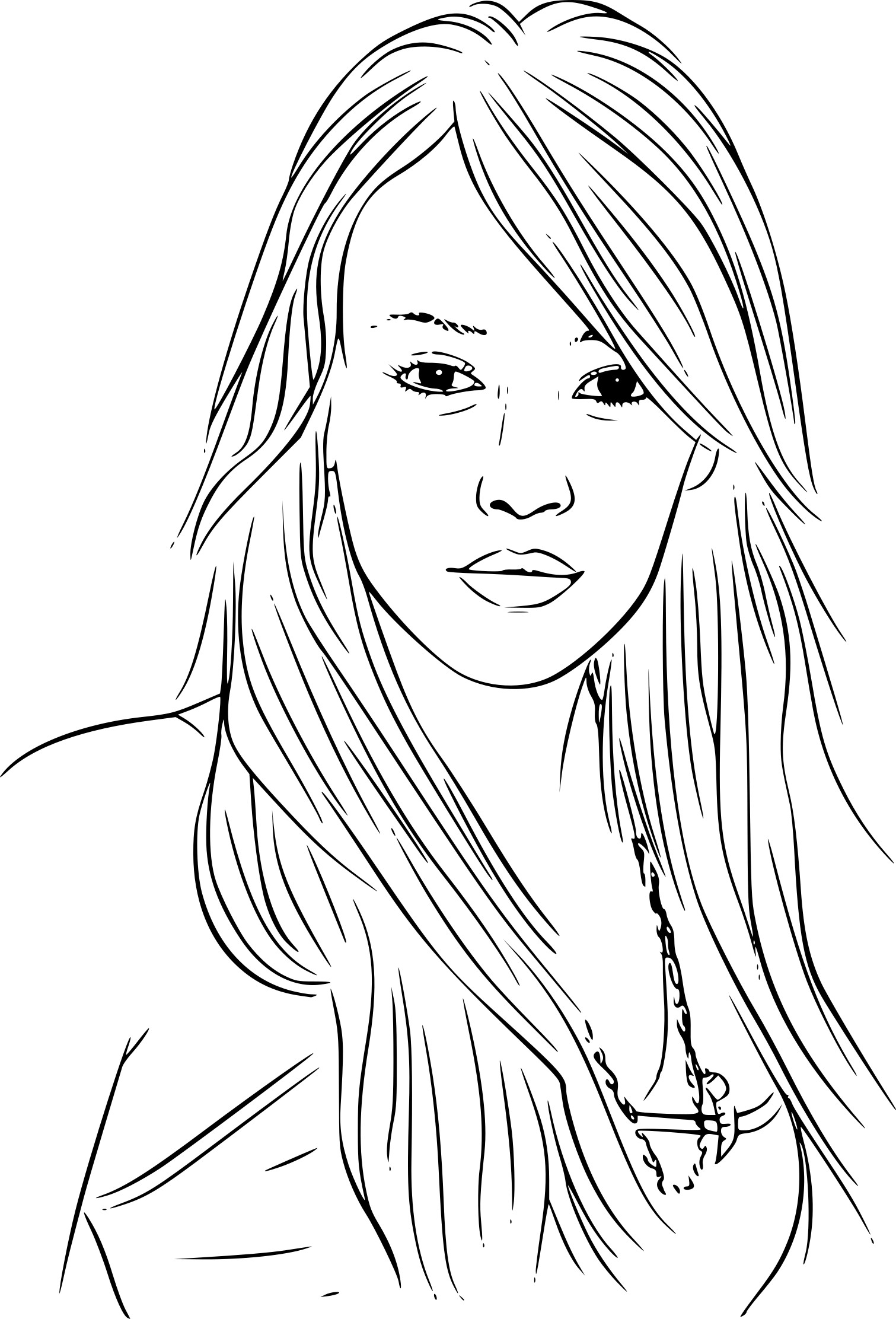 hilary duff coloring pages - photo#8