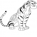 Coloriage Shere Khan dessin