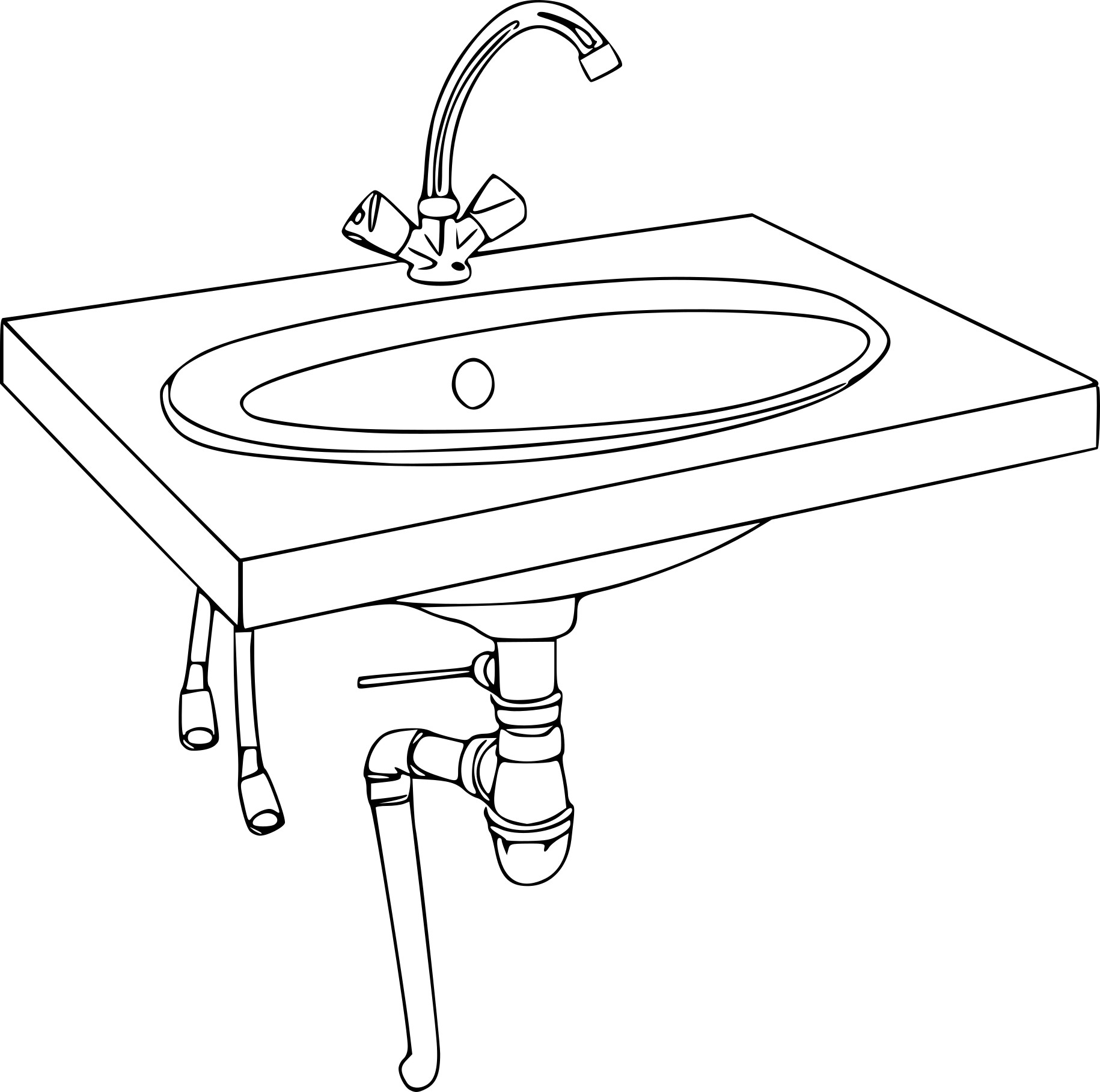 coloriage lavabo dessin imprimer sur coloriages info. Black Bedroom Furniture Sets. Home Design Ideas