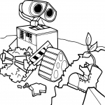 Coloriage Wall-E Pixar