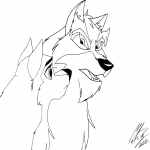 Coloriage Balto 2 dessin