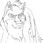 Coloriage Balto