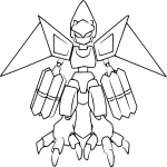 Coloriage Medabots Flyfalcon
