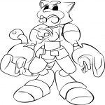 Coloriage Medabots Puttycat