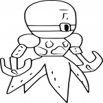 Coloriage Medabots Tentaclam