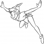 Coloriage Peter Pan vole