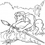 Coloriage Tarzan Jungle