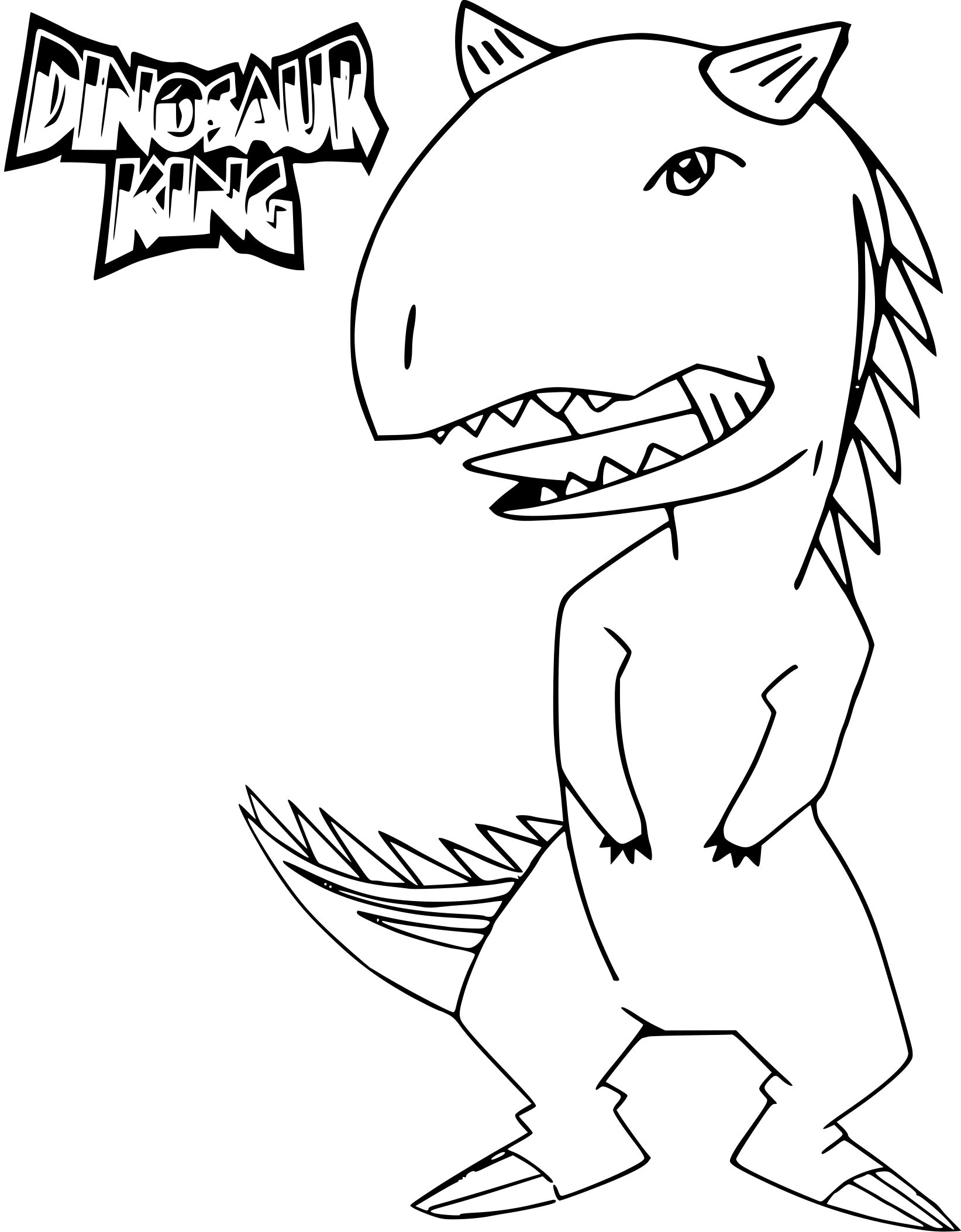 Coloriage dinosaure king dessin imprimer sur coloriages info - Top coloriage dinosaures ...