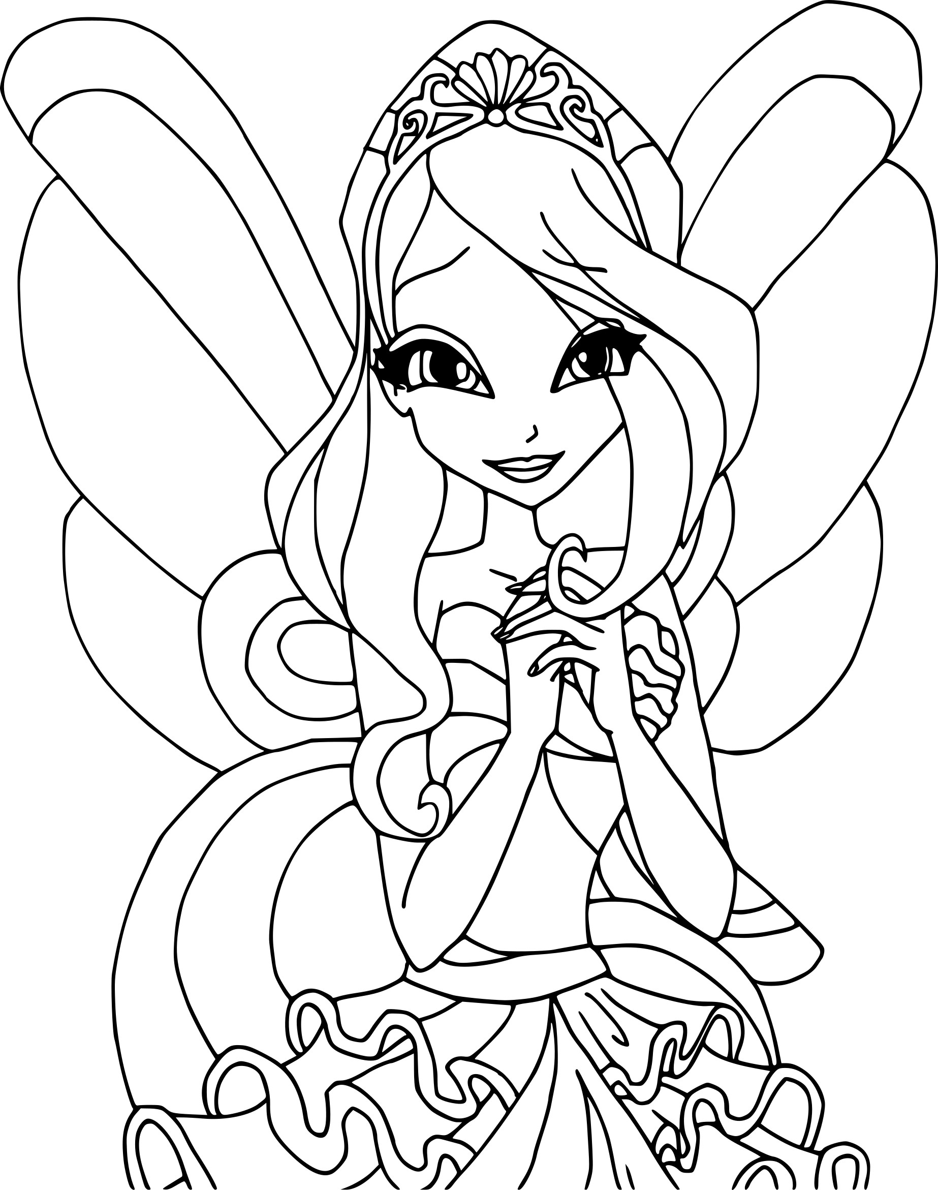 Coloriage winx bloom imprimer sur coloriages info - Coloriage winx bloom ...
