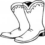 Coloriage Chaussure western
