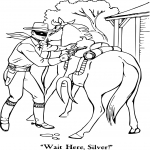 Coloriage Lone Ranger western
