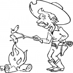 Coloriage Fille Barbecue.Coloriage Western Fille A Imprimer Sur Coloriages Info