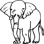 Coloriage Elephant simple