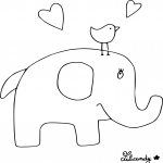 Coloriage Elephant maternelle
