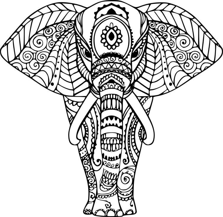 coloriage elephant zen imprimer sur coloriages info. Black Bedroom Furniture Sets. Home Design Ideas