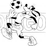 Coloriage Dingo football
