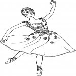 Coloriage Danse Barbie