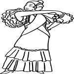 Coloriage Danse de flamenco